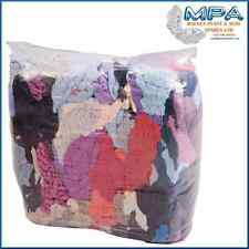 9KG BAG OF CLEANING WIPING MIXED RAGS - WORKSHOP GARAGE CLEAN WIPE