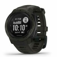 Garmin Instinct GPS Watch with Heart Rate Monitor - Graphite, **MISSING CHARGER*