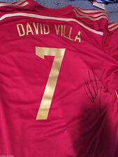 Spain David Villa Autographed Signed Mens XL Authentic Jersey COA BNWT