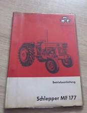 Massey Ferguson Schlepper MF177 Betriebsanleitung
