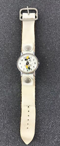 Vintage 1971 Minnie Mouse / Disney Watch - Wind Up /  Not Working - Orig Band