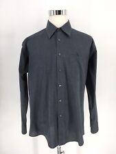 Yves Saint Laurent Men's Long Sleeve Grey Solid Casual Shirt Sz 17-34-35