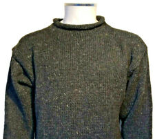 CLASSIC HAND KNITTED PLAIN CHARCOAL GREY WOOLEN JUMPER - UNISEX QUALITY