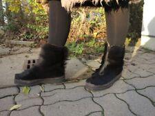 Fellstiefel Stiefel Winterschuhe 70er TRUE VINTAGE 70s winter fur boots 7,5