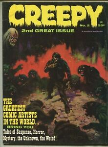 Creepy 2 VG+ Frazetta Art Warren Comic Magazine  SA