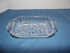Vintage Glass Etched Candy Dish Bowl Pinecone Design