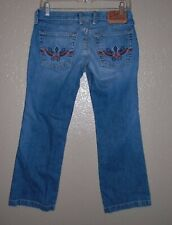 Lucky Brand Crop Jeans Women's 2/26 Midday Candy Colorful Stitching Pockets VGUC