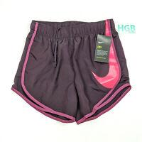 Nike Dry Shorts Women's Lined Swoosh Purple Pink Training Running AH6159-652 NWT