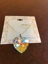 Swarovski Elements Crystal Heart Pendant w/ Adjustable Chain Necklace NEW