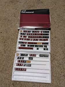 GMK Red Samurai Keycap Set TKL Kit ONLY PIECES PICTURED ARE INCLUDED