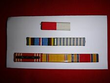 Group Of 6 US Military Medal Ribbon Bars On Metal Rack With Clutchback Pins