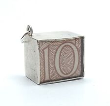 Vintage 925 Sterling Silver BRITISH TEN SHILLINGS EMERGENCY MONEY Charm 2.6g
