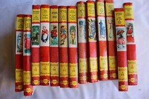 lot de 13 livres enfants collection rouge et or Dauphine