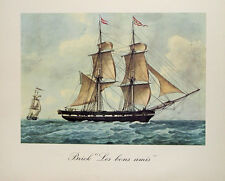Marine Seefahrt Frankreich Marseille Navy Bateau Tricolore Segelschiff Brick Sea