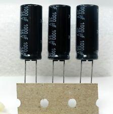 3x Panasonic FS 1000uF 35v Low-ESR  Radial Capacitors 10000HR @105°C 10 X 25mm