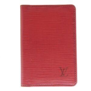 Auth LOUIS VUITTON Organizer de Posh Epi Credit Card Case Red M6358E #f22388