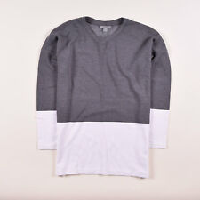 COS Damen Pullover Sweater Strick Gr.S (DE 36) Bluse Longsleeve Weiß Grau, 54990