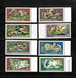 HUNGARY 1971 HUNTING, DEER, HORSES, DOGS, BIRDS, FISH,NATURE MNH