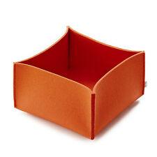 Filz Korb Aufbewahrung FELT Korb - 28 x 28 x 17 cm - Farbe mango - dunkel orange