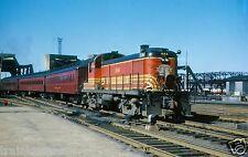 Boston & Maine (B&M)  #1544 With Passenger Train @ Boston- Color Print