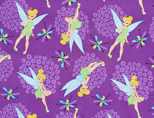 DISNEY TINKERBELL TOSS TINK  100% COTTON FABRIC  PIXIE  FAIRY QUILTING  YARDAGE
