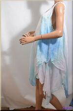 Robe tunique bleu asymétrique  grande taille 52/54  ref  101776