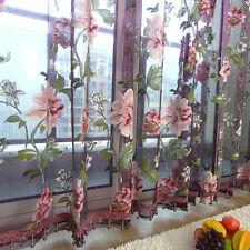 2018 romantique tulle porte fenêtre Motif Floral Rideau dransein Panneau Home