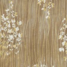 Timeless Treasures Fabric - Zephyr - Metallic Sprigs Stripe - Taupe - 100%Cotton