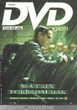 DVD Magazin Movie Magazine 25 The Matrix Revolutions Keanu Reeves - Cover