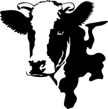 Window Wall Display Farm Dairy Cow Animal Cow Head Decal vinyl sticker