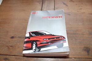 Geo Storm Chevrolet ST371-92 1992 GM Shop Service Manual