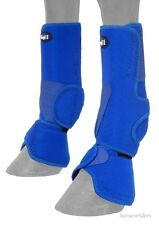 Horse Protective Sport & Bell Boots Combination 1 - Vented - Royal Blue - Medium