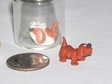 1 miniature dollhouse ity bity Tiny Dog loose locket animal nail art mini*