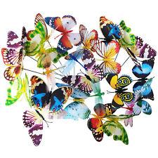 24 Gartendeko Schmetterlinge Blumentopfstecker Pflanzenstecker Gartenstecker