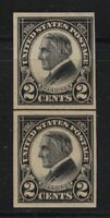 1923 HARDING imperf Sc 611 MNH horizontal line pair CV $20