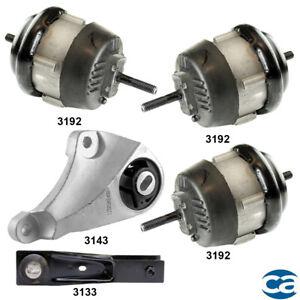 Hydraulic Engine Motor Mounts & Auto. Trans. Mount 5Pcs Set for Buick Enclave