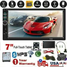 7 Inch 1080p DOUBLE 2DIN Car MP5 Player BT Touch Screen Stereo Radio HD + Camera