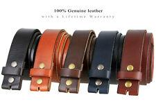 BS040 100% Full Grain Genuine Cowhide Vintage Leather Belt Strap 1-1/2