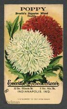 POPPY, Everitt's Antique Seed Packet, Kitchen Decor, 030