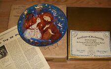 """ANNA PERENNA/RUSSELL-BARRER """"ROMEO & JULIET"""" FIRST ART PLATE W/BOX  9 7/8""""DIAM"""