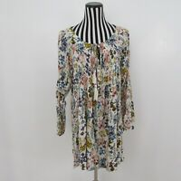 Umgee Boho Chic Multi Colored  Peasant Tunic Dress Size M