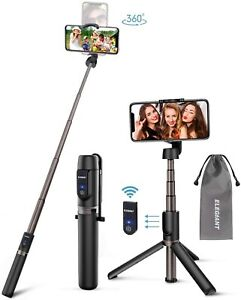 ELEGIANT 3 in 1 Mini Extendable Selfie Stick with Wireless Remote & Tripod Stand