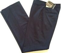 Liz Claiborne Career Womens Dress Pant Audra Classic Straight Leg 4S Short Gray