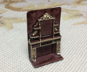 Dollhouse Miniatures 1/4 Inch Scale Artisan Resin Fireplace Hearth 118