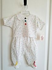 Newborn 2 Piece Outfit  White & Colorful Short Sleeve 0-6 mo