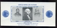 1967 Asda National Postage Stamp Show American Heroes (Grant, Washington, Lee)