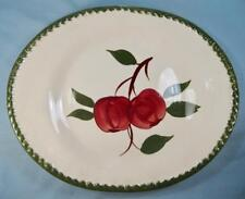Quaker Apple 12 Inch Oval Serving Platter Blue Ridge Southern Pottery (O) AS IS