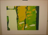 Vintage SYLVIA BIRCH HALPERIN 'The VIsitors' ABSTRACT IN GREENS Lithograph
