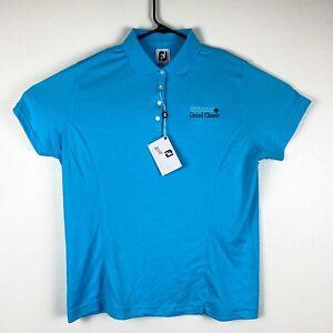 Brand New Footjoy FJ womens XL Blue Polo Golf Shirt New with Tags NWT