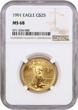 1991 Gold Eagle $25 NGC MS68 - American Gold Eagle AGE